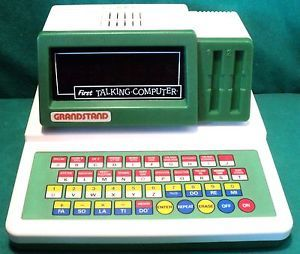 Vintage-Retro-1980s-Grandstand-First-Talking-Computer-Spelling-Learning-Toy