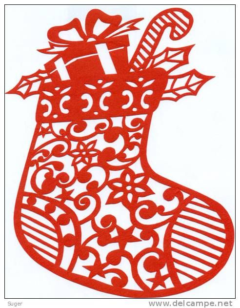 Christmas window grilles / Folk paper-cut / Decoupis Chinois /Chinees Gesneden papier/ 15x 20cn - Delcampe.net