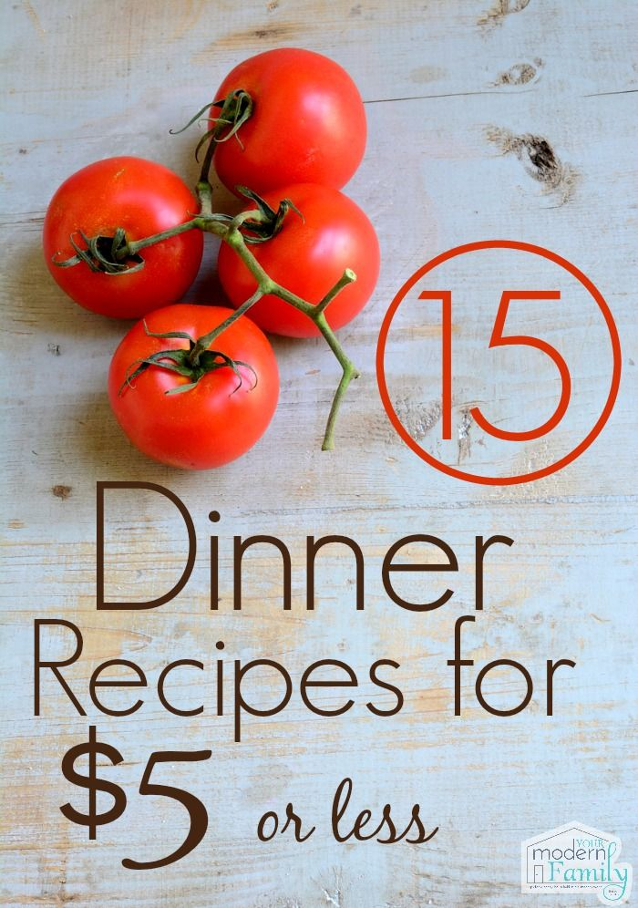 15 dinners for $5 each! These are SUCH great recipes! Perfect make-ahead meals, too!