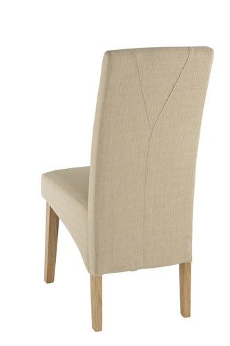 roma, cream, fabric, dining chair