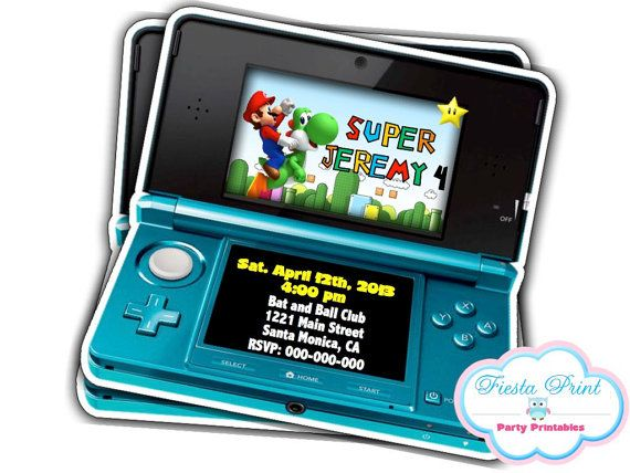 17 Best images about Invitations – Super Mario Bros Party Invitations