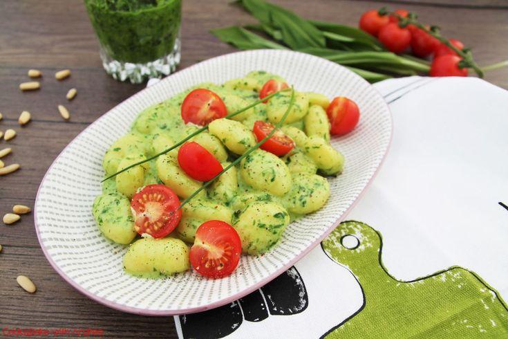Gnocchi mit Bärlauchpesto und Frischkäse - Frühling - www.candbwithandrea.com - Rezept 4