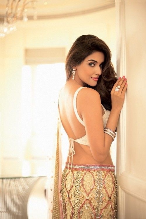 asin in lovely backless choli & lehenga