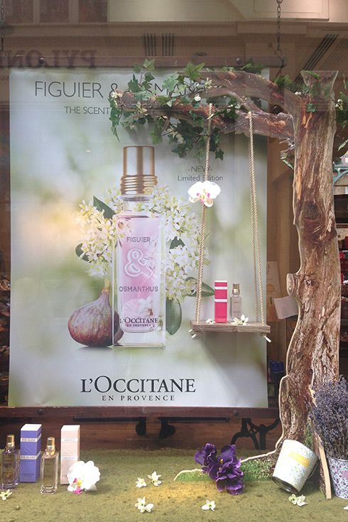 L'Occitane celebrating the Chelsea Flower Show. Display by @DZD_London