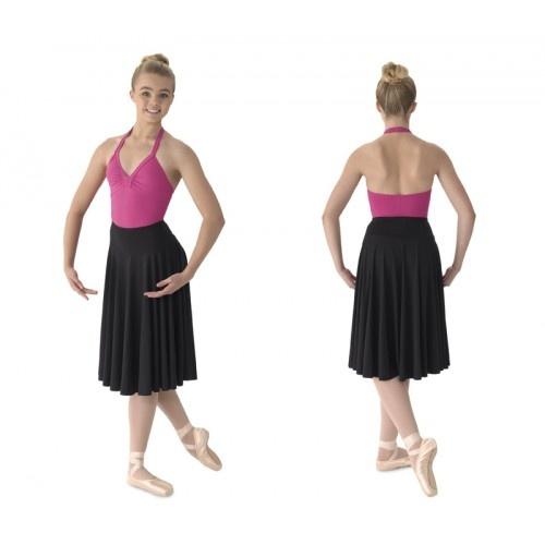 Mirella MS23, Circle Skirt  Knee length circle skirt with elastic waist yoke.  Fabric:  Polyester / Spandex  Colors: BLACK  Price: 23.70€