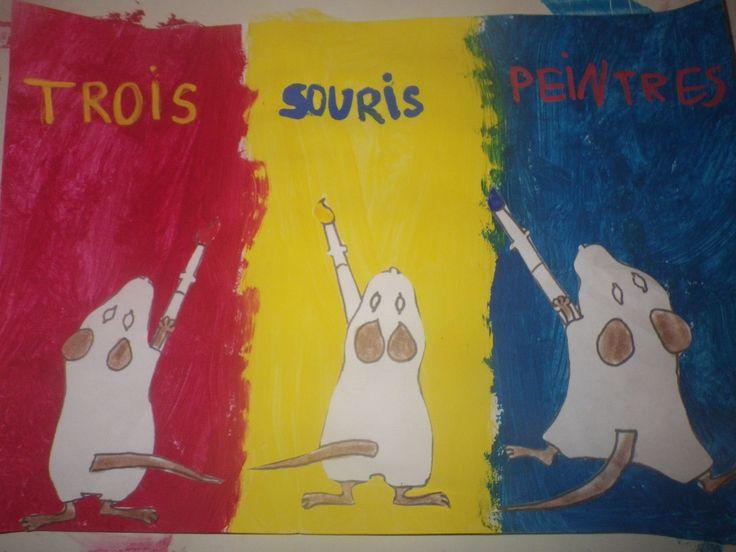 Art visuel 3 souris peintres