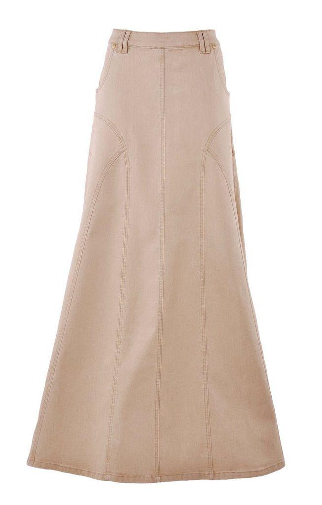 Golden Grace Long Denim Skirt - love this skirt!