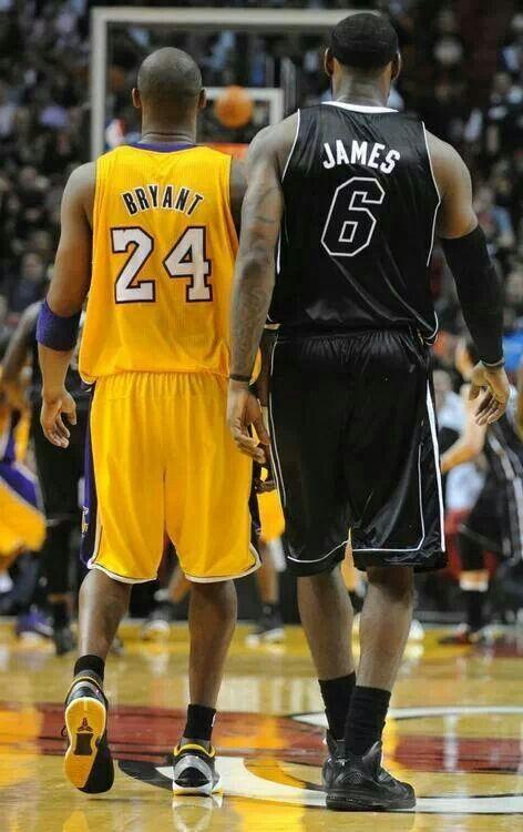 Kobe Bryant and Lebron James. #BlackMamba #KingJames