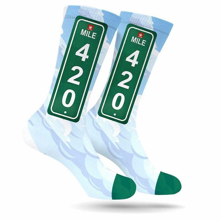 Get it before 4/20/17  shop.stonerdays.com MILE 420 WEED SOCKS #420 #weed #socks #weedsocks #stoners