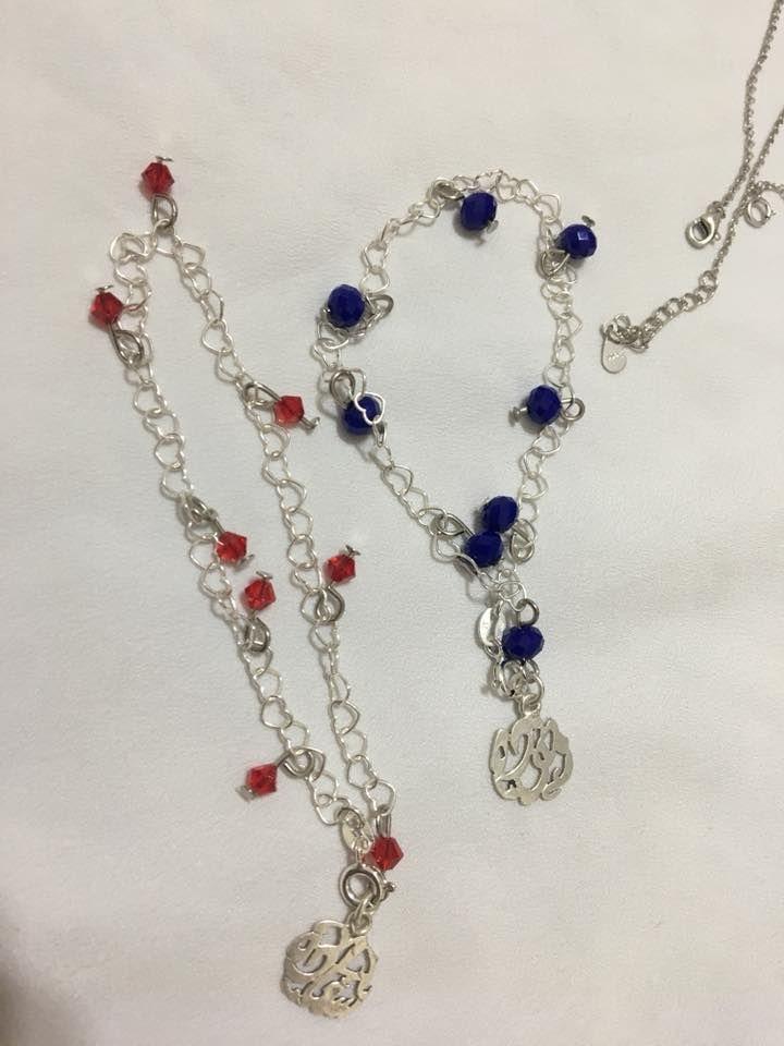 انسيال فضة بدلايات فضة و خرز هاند ميد Pandora Charm Bracelet Pandora Charms Charm Bracelet