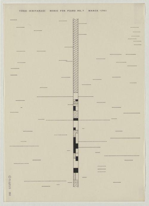Toshi Ichiyanagi • Music For Piano No. 7 (1961)