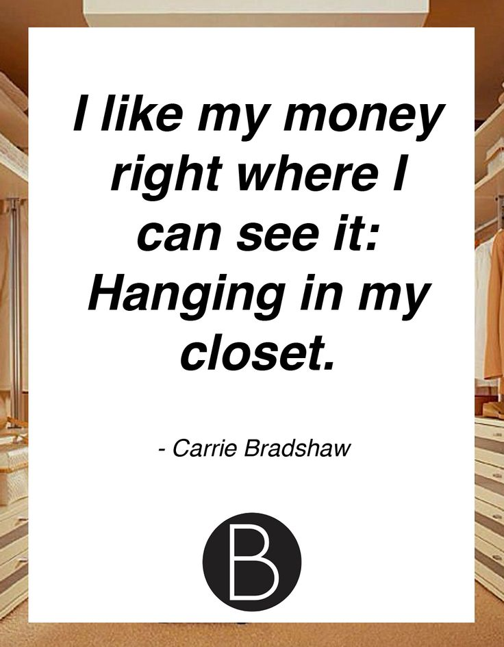 Carrie Bradshaw quote on fashion #bprwords