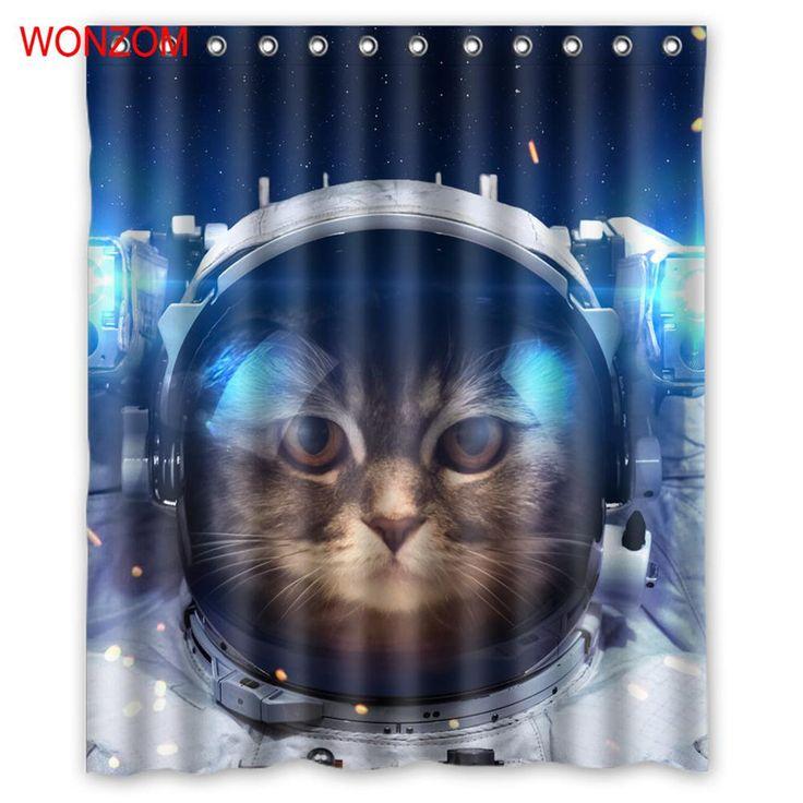 WONZOM 1Pcs Cat Waterproof Shower Curtain Dolphins Bathroom Decor Bird Decoration Animal Cortina De Bano 2017 Bath Curtain Gift #Affiliate