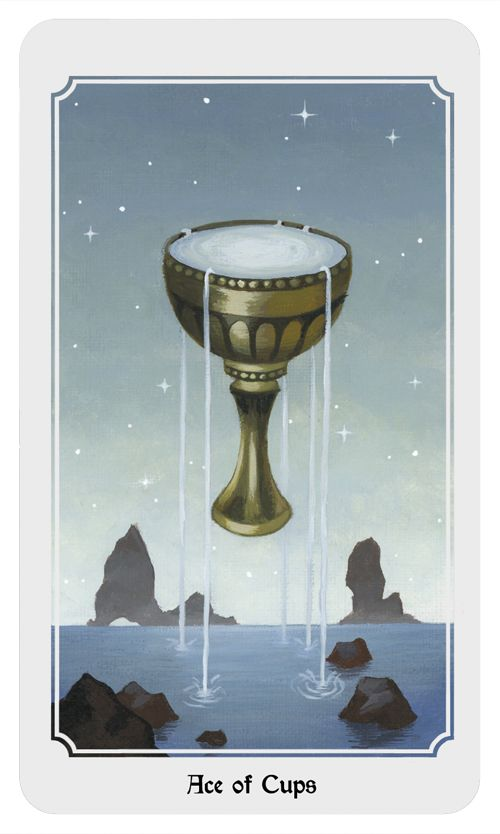 Ace of Cups. From the Anima Mundi tarot deck.