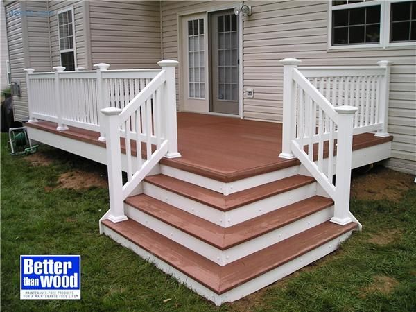 Best Would Like Corner Stairs When We Redo Our Porch Front Stairs Front Porch Deck Deck Stairs 400 x 300