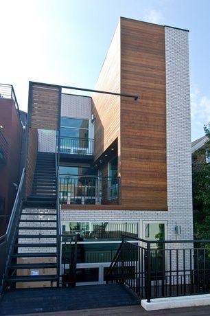 cedar and white brick house - Google Search