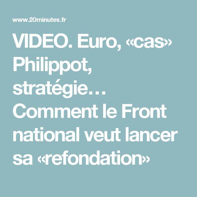 VIDEO. Euro, «cas» Philippot, stratégie… Comment le Front national veut lancer sa «refondation»