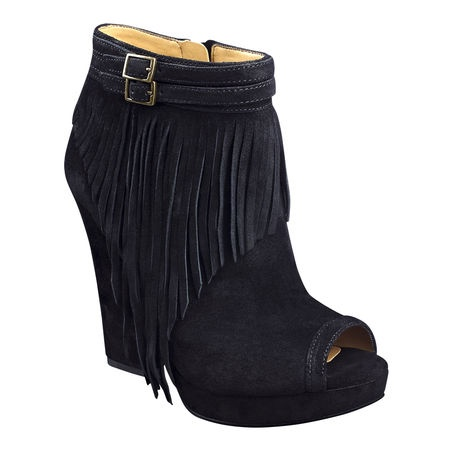 Nine West: Icelandic Bootie: Shoes Boots Etc, Fashion, Bootie Thes, Fringes Booty, Heels 4 5, Have To Hav Heels, Fringes Genuine, Fun Boots, Peeps