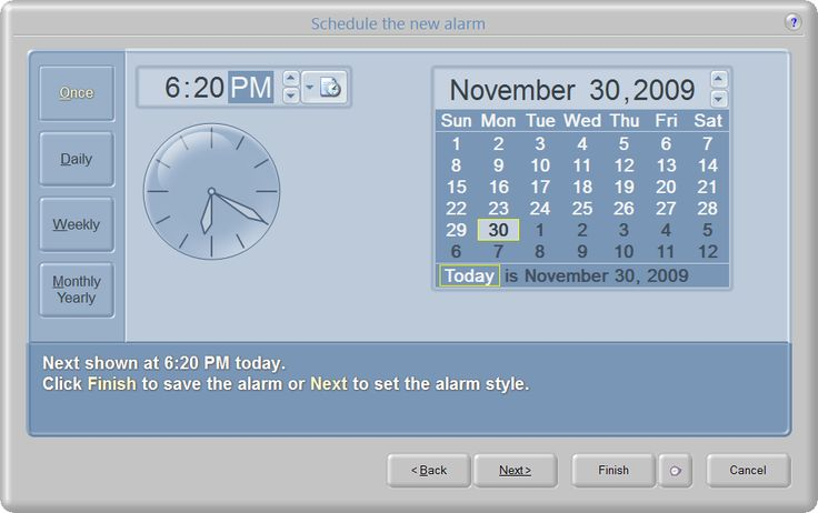 NEW 7/31/2017 - Talking Alarm Clock 2.0.6.110 Program lets your computer remind you of important dates and events