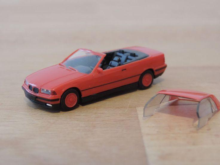BMW 325i Cabrio (E36) rot * 1:87 Herpa