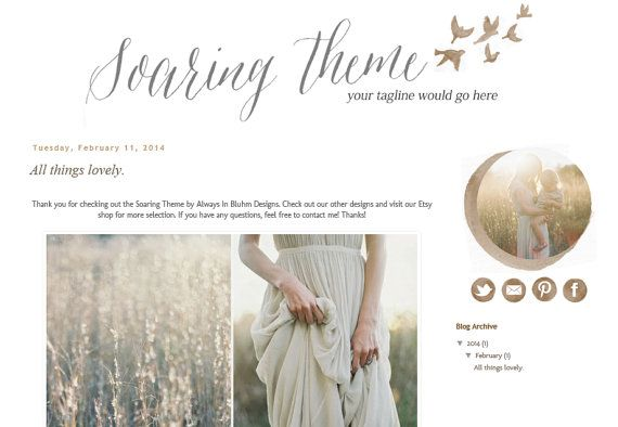 20 Best Images About Beautiful Blog Designs On Pinterest