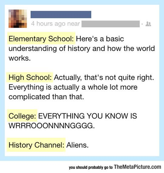 The Way We Get Educated