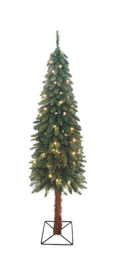 7 Ft. Pre-Lit Two-Tone Alpine Artificial Christmas Tree, Clear Lights