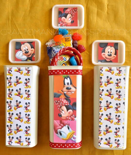 Craft-O-Maniac: DIY Disneyland Treat Containers & Vinyl Mickey Toes