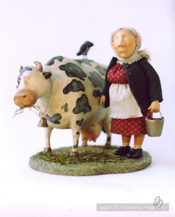 Сказочные Куклы из глины от Ольги Егупец