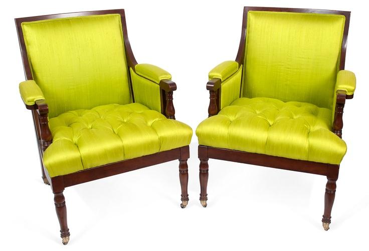 Scot Meacham Wood Vintage Baker Armchairs Pair Is Not