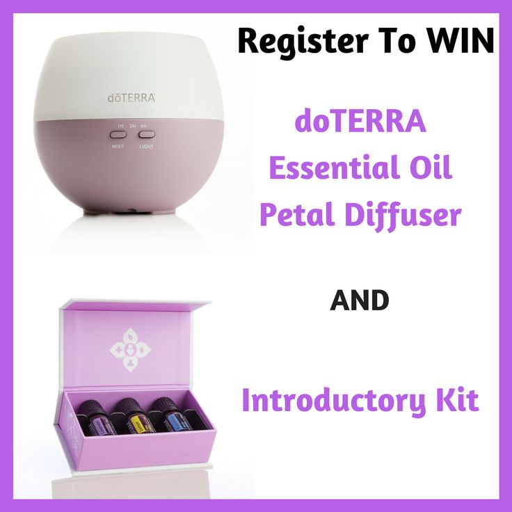 ends 03/22 doTERRA Essential Oil Petal Diffuser and Introductory Kit Giveaway
