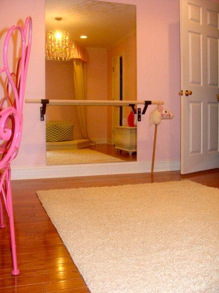 Mirror with ballet bar in Lottie's room