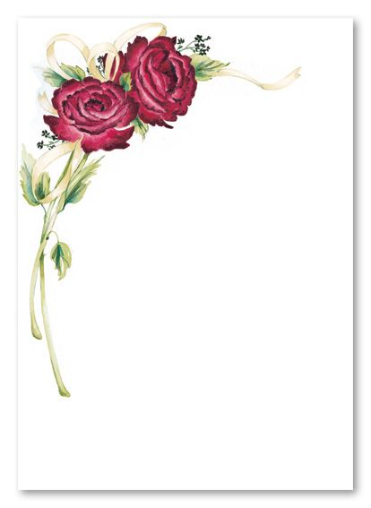 Customize Your Free Printable Rose Stem Blank Card Invitation