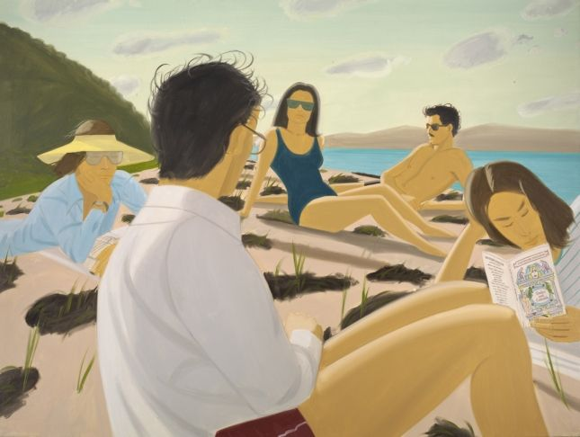 Alex Katz, Round Hill, 1977, oil on linen, 183 x 244 cm, Los Angeles County Museum of Art.