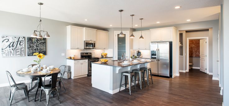 The Hudson Kitchen – Trico Homes – Check out the new homes built by www.tricohomes.com #homebuilder #tricohomes #calgary