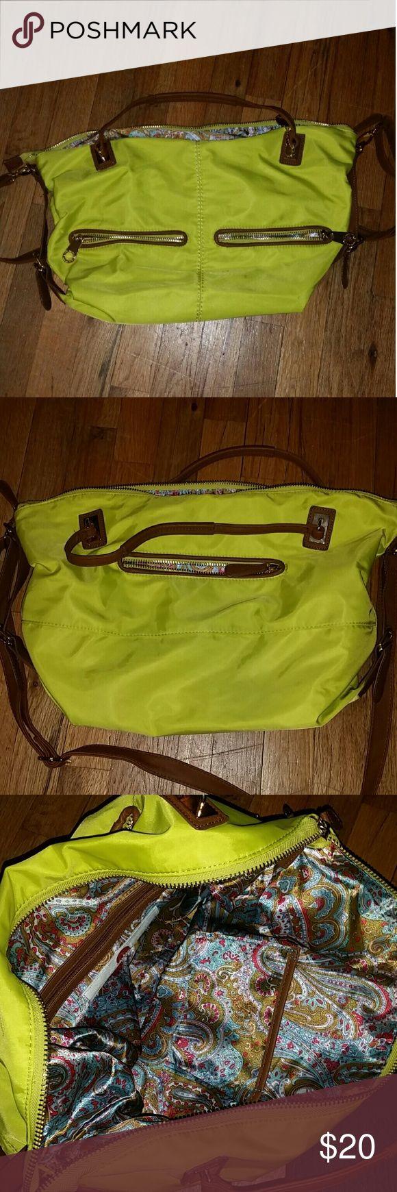 Selling this Big Buddha Neon Yellow/Green Purse on Poshmark! My username is: laurentmoe. #shopmycloset #poshmark #fashion #shopping #style #forsale #Big Buddha #Handbags