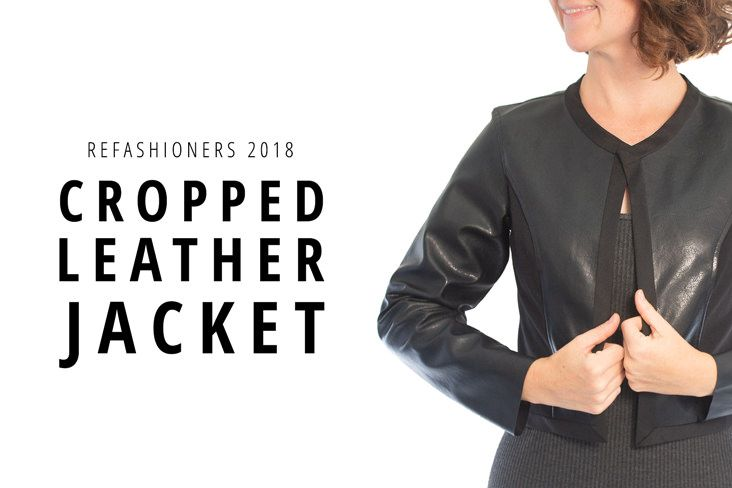 Create Customized Fitted Leather Jacket From Old Thrift Store Find Cropped Leather Jacket Leather Jacket Jackets