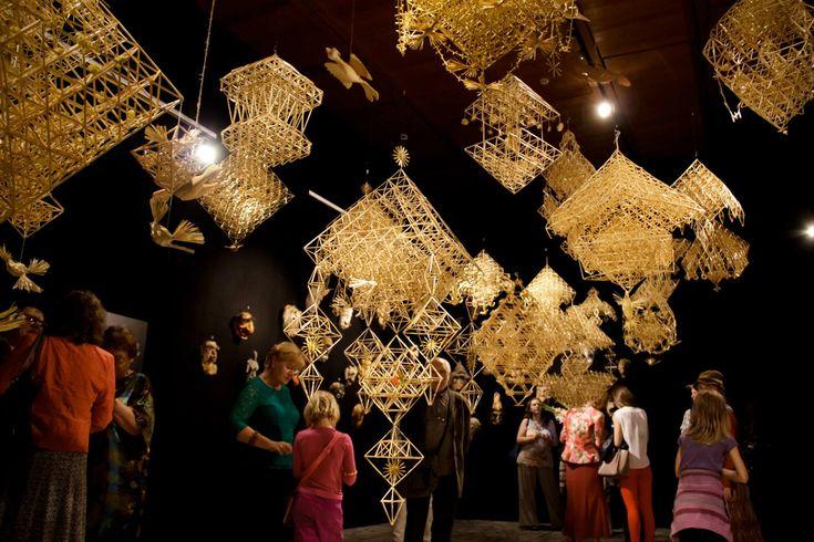 """Lietuvos dailės muziejus/ Lithuanian art gallery. Liaudies meno parodos """"Pasaulis – namuose""""."""