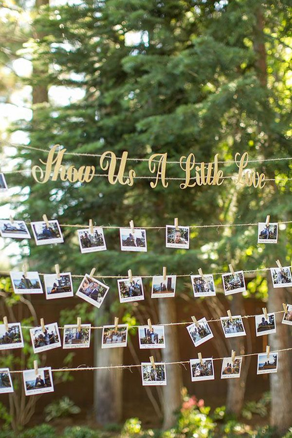 polaroid guestbook http://weddingwonderland.it/2016/05/idee-per-decorare-il-matrimonio-con-fotografie.html
