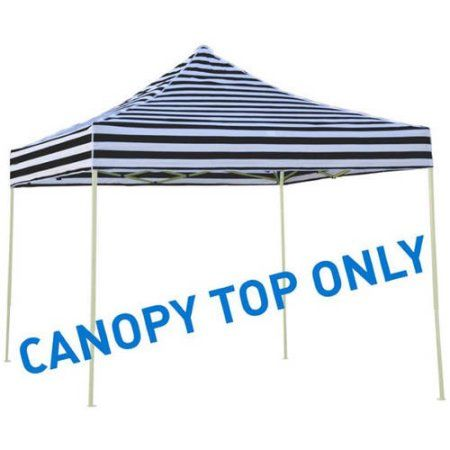 Trademark Innovations 9.6' x 9.6' Square Replacement Canopy Gazebo Top, Black