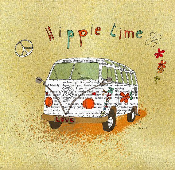 I love this Hippie VW van trip. Orange Optimist, etsy.com