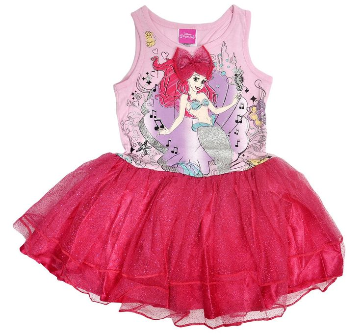 Princess Ariel The Mermaid Girls Tutu Tank Dress