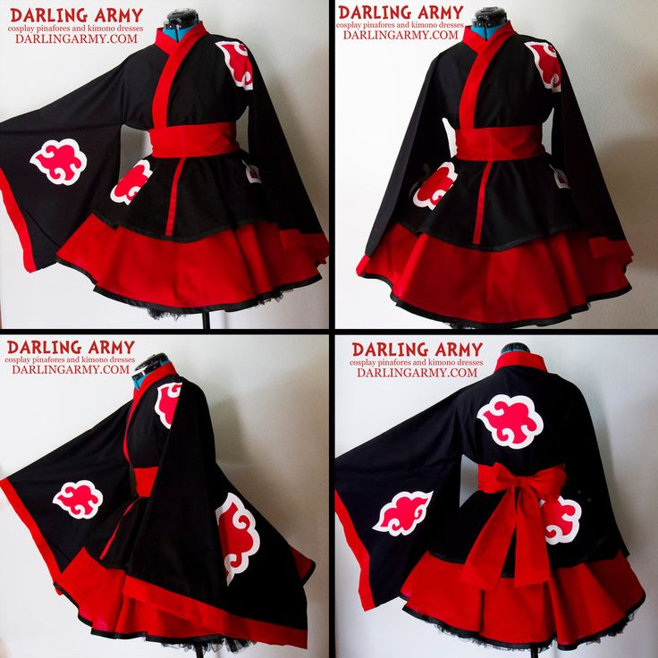 Akatsuki Naruto Cosplay Lolita Kimono Dress by DarlingArmy.deviantart.com on @deviantART