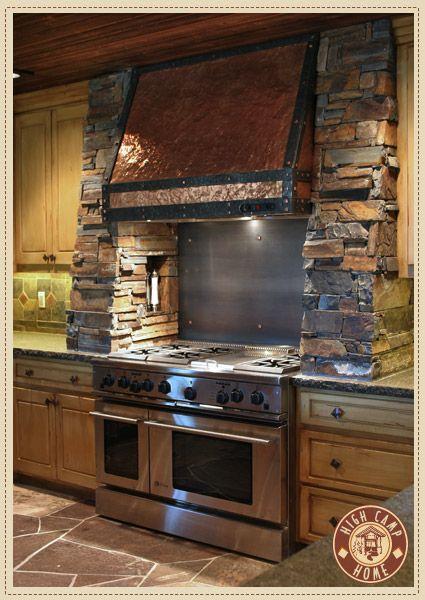 Lovely Interior Design   High Camp Home...copper Range Hood