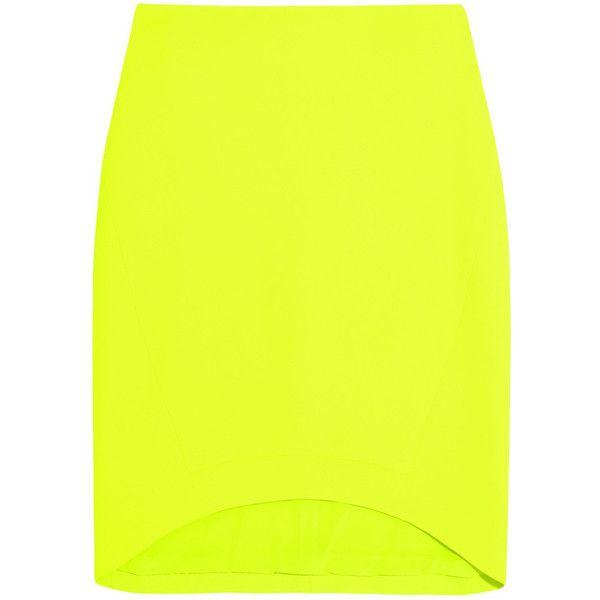 Antonio Berardi Neon stretch-crepe mini skirt ($713) via Polyvore