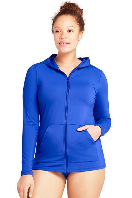 499dafd01d Lands End - Women's Plus Size Zip-front Swim Cover-up Rash Guard - $48.97 on  sale