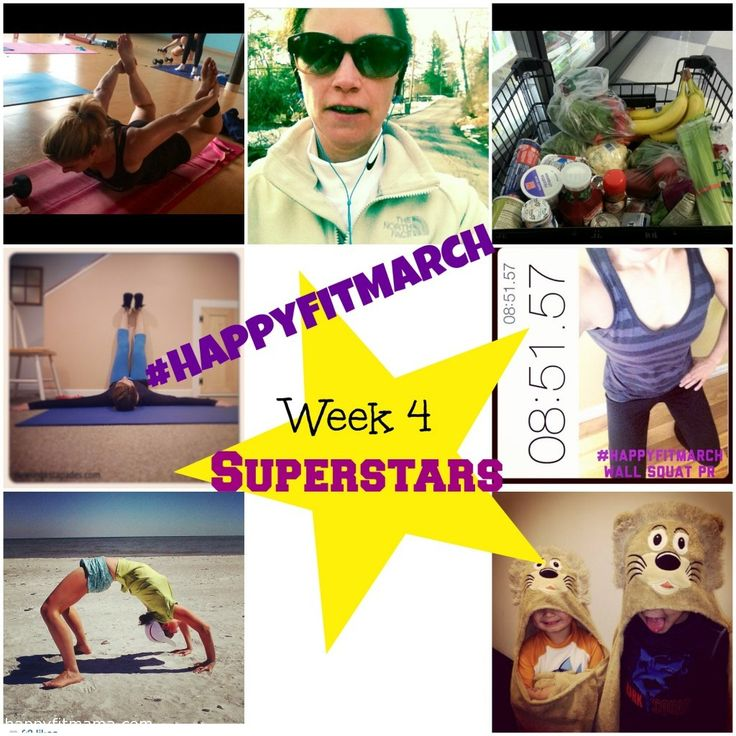 Superstars from week 4 of #happyfitmarch challene via @Happy Fit Mama