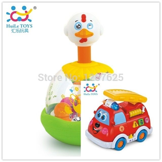 (49.30$)  Buy here  - Brinquedos para Bebe Developmental Toys Jumping Chick Educativos Electric Fire Truck Spanish Free Shipping Huile Toys 526 & 959