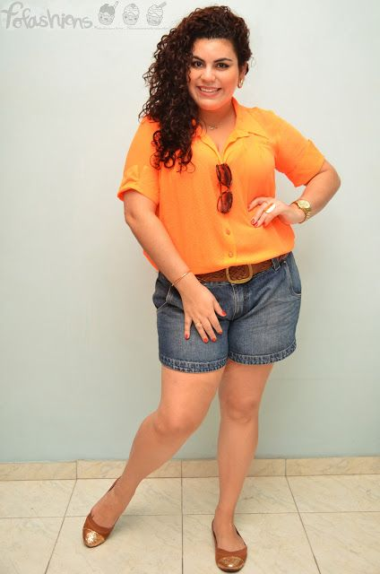 Fofashions!: Look do dia: camisa plissada laranja Wish Fashion!