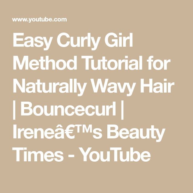 Easy Curly Girl Method Tutorial for Naturally Wavy Hair